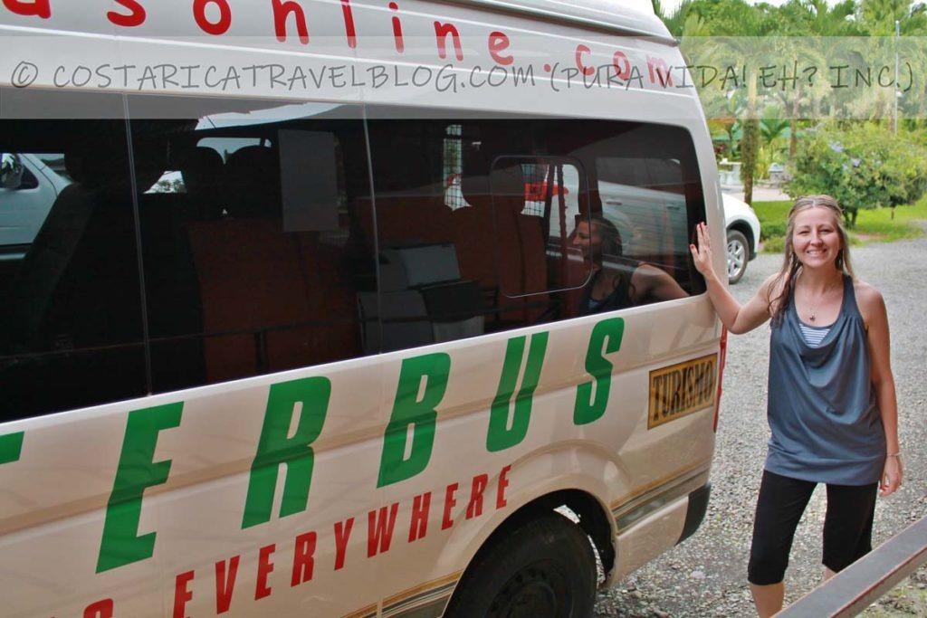 Nikki; taking a shuttle service through Interbus