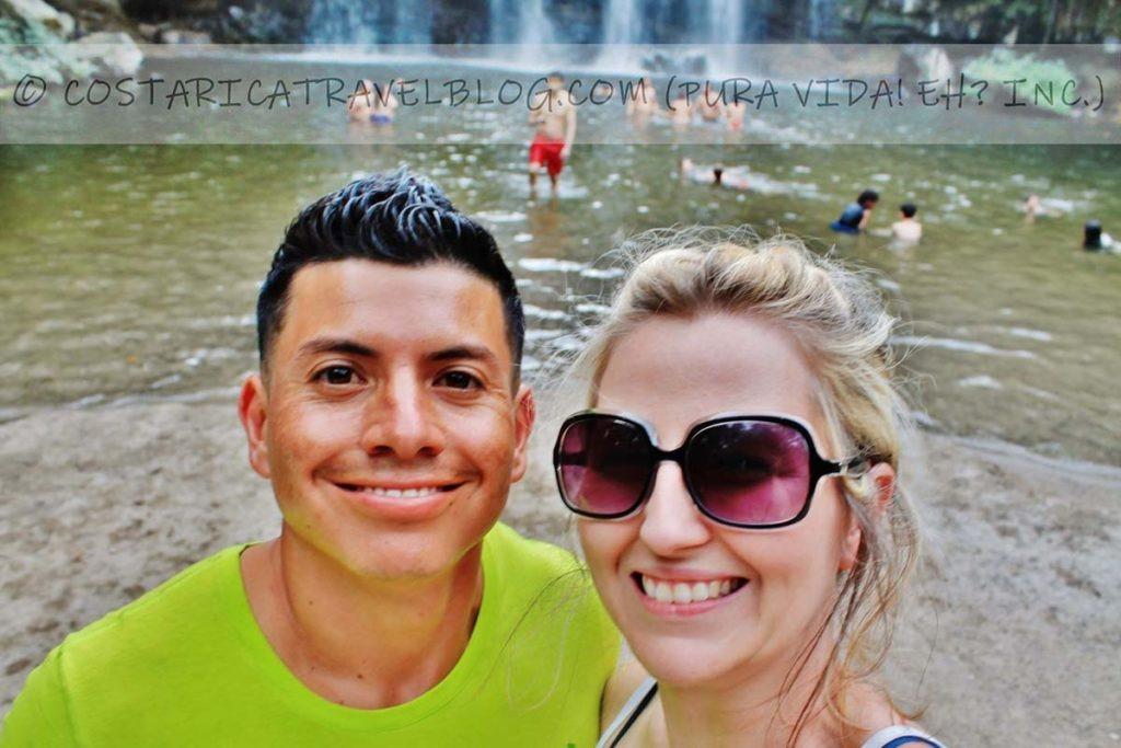 Ricky and Nikki; Llanos del Cortes Waterfall