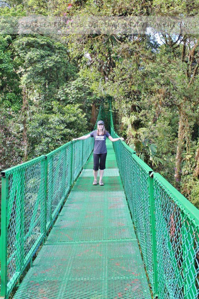 Nikki; treetop walkway hanging bridges at the Selvatura Park