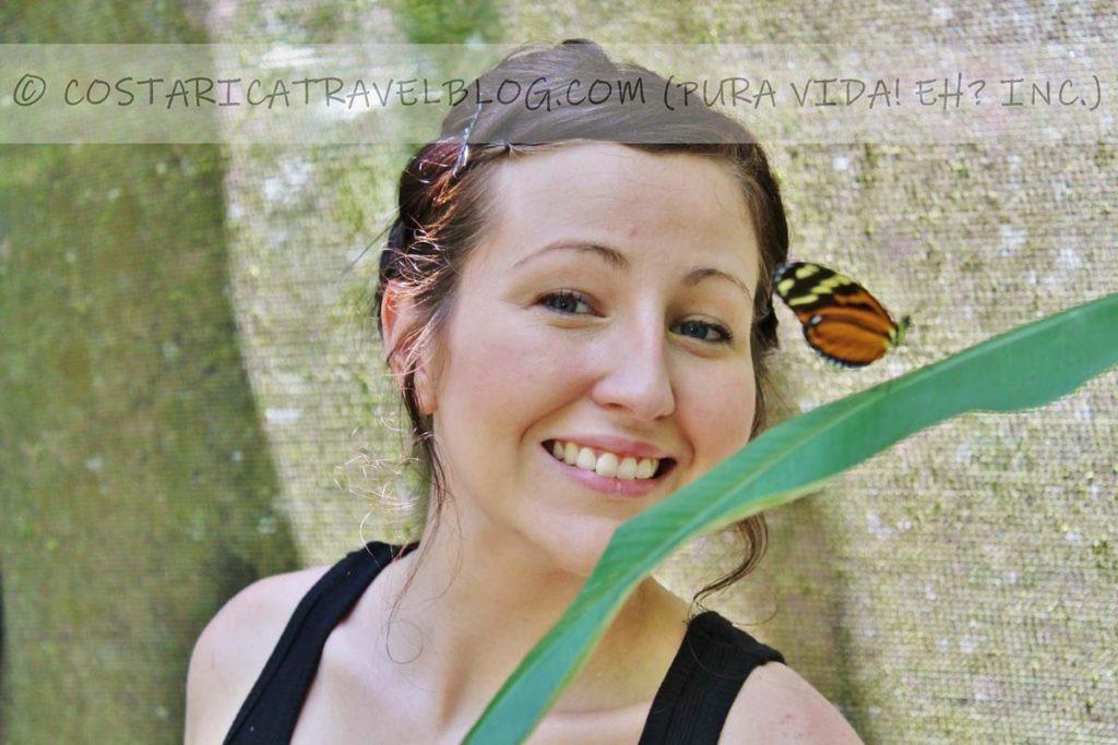 Nikki; butterfly garden, Manuel Antonio