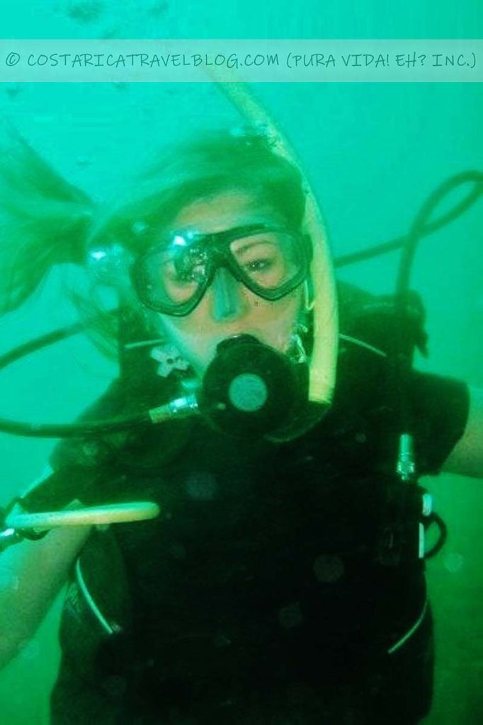 Nikki; scuba diving the Caribbean Sea