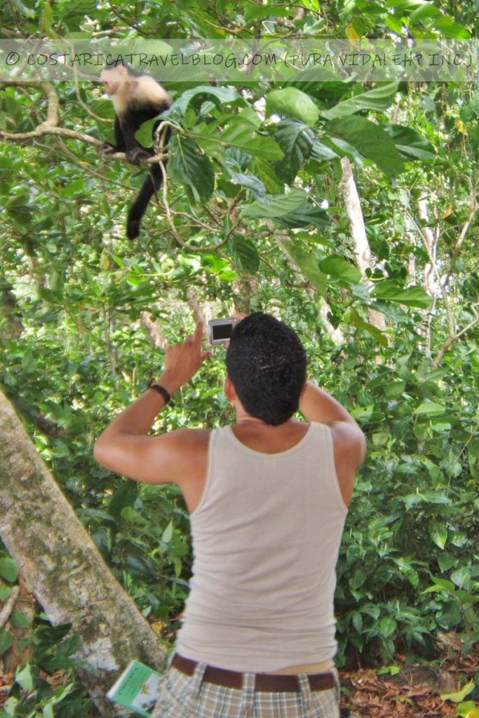 Ricky; photographing monkeys at the Cahuita National Park