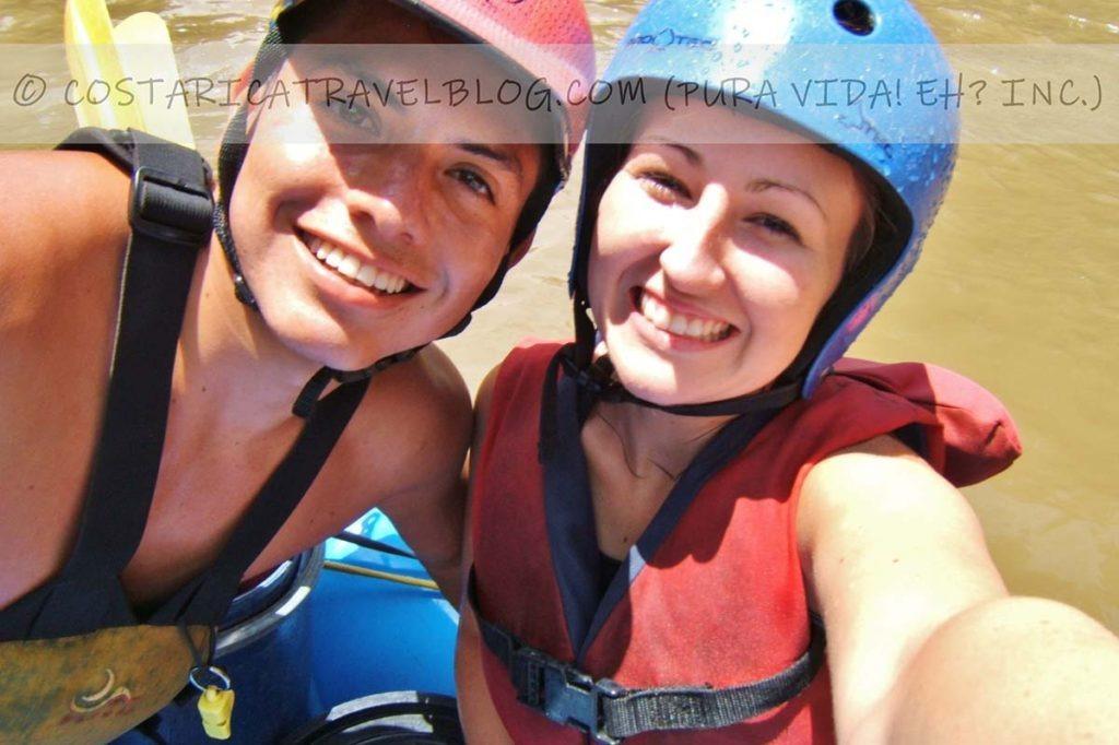 Ricky and Nikki; white-water rafting Rio Pacuare