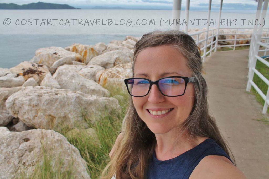 Nikki; ferry dock at Playa Naranjo