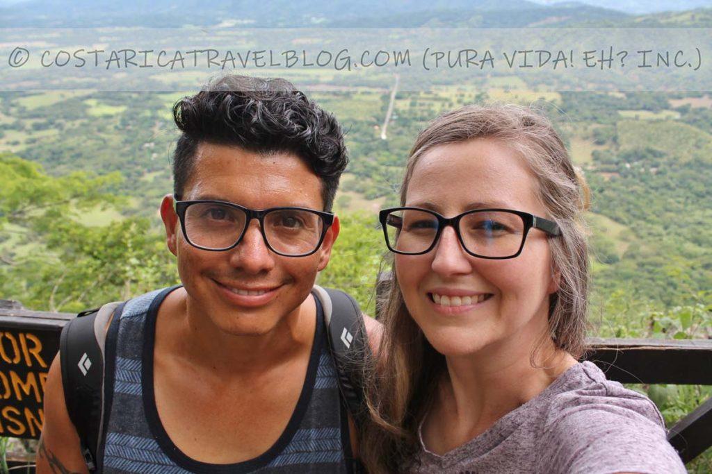 Ricky and Nikki; mirador at Barra Honda National Park