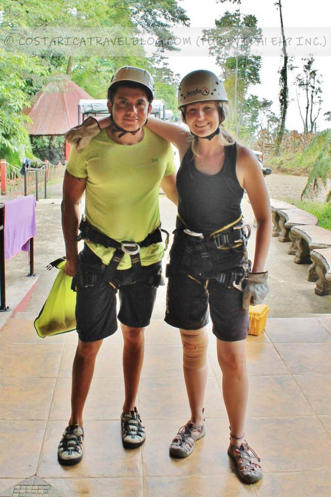 Ricky and Nikki; canyoning in the Lost Canyon