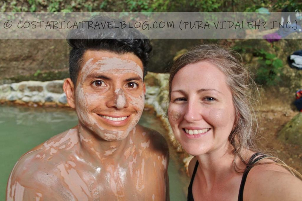 Ricky and Nikki; mud bath at Rio Negro Hot Springs