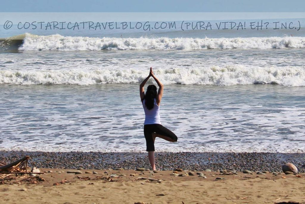 Nikki; yoga on the beach at Playa Dominical