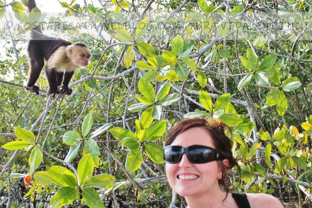 Nikki; boating through the mangroves at Isla Damas