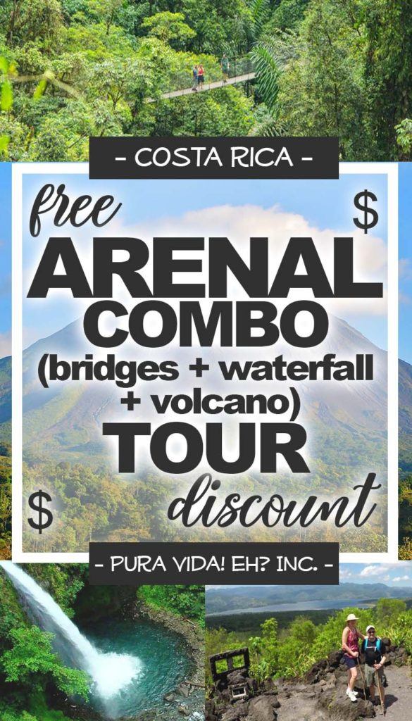 DISCOUNT: Arenal Combo Tour (Hanging Bridges, Rio Fortuna Waterfall, and Arenal 1968 Volcano Tour) – Adult (From La Fortuna / Operated by Canoa Aventura)
