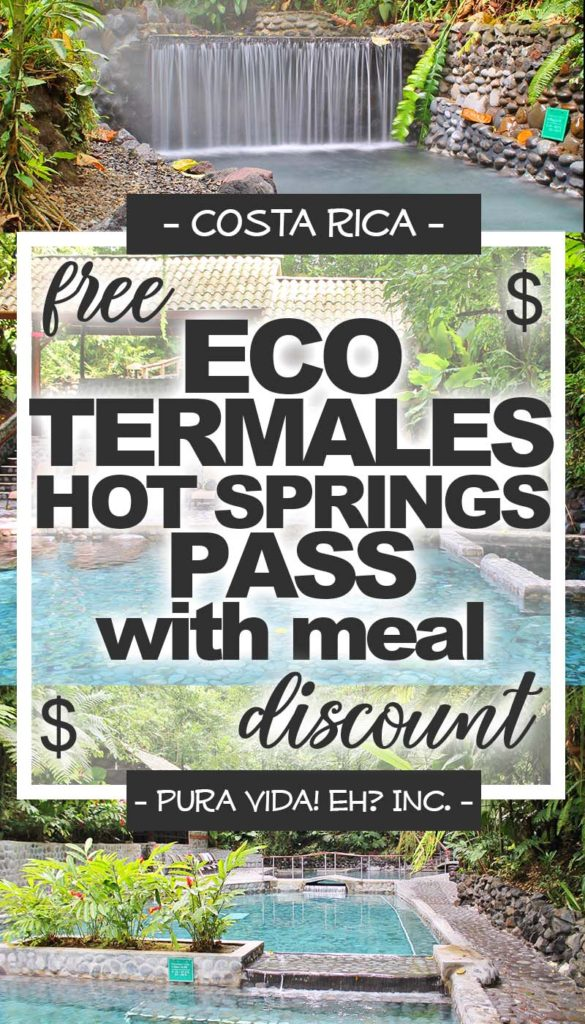 DISCOUNT: EcoTermales Hot Springs Pass with Lunch or Dinner and Transport – Adult (From La Fortuna / Operated by the EcoTermales Hot Springs)