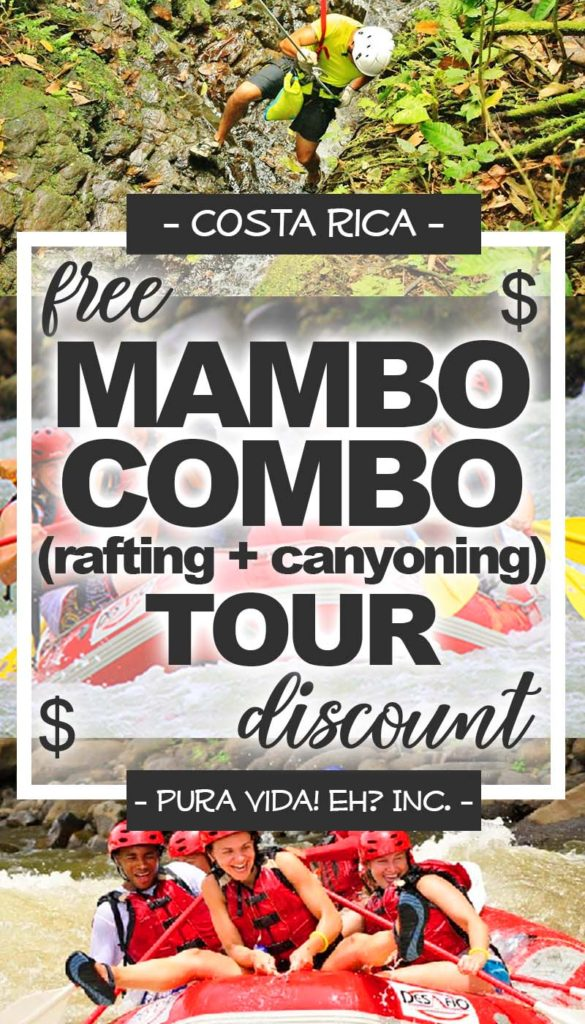 DISCOUNT: Mambo Combo Tour (Canyoning Tour and Sarapiqui River Rafting Tour Class 2/3) – Adult (From La Fortuna / Operated by Desafio Adventure Company)