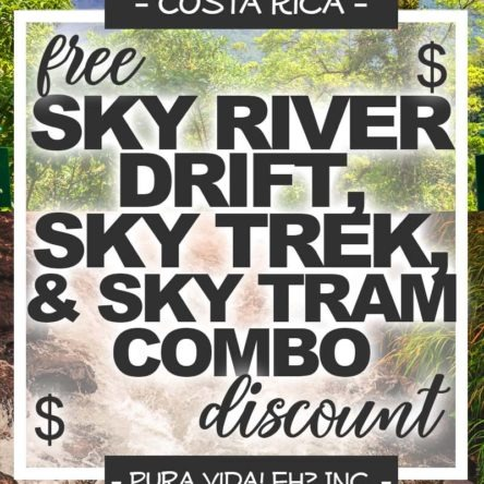 DISCOUNT: Sky River Drift Tubing Tour, Sky Trek Canopy Tour (Ziplining), And Sky Tram Aerial Tram Ride – Child (From La Fortuna / Operated by Sky Adventures)